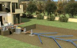 Irrigazione e subirrigazione dei prati e dei tappeti for Schema scarico acque reflue domestiche